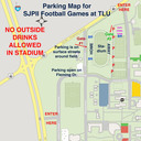 TLU Parking Map, home football games photo album